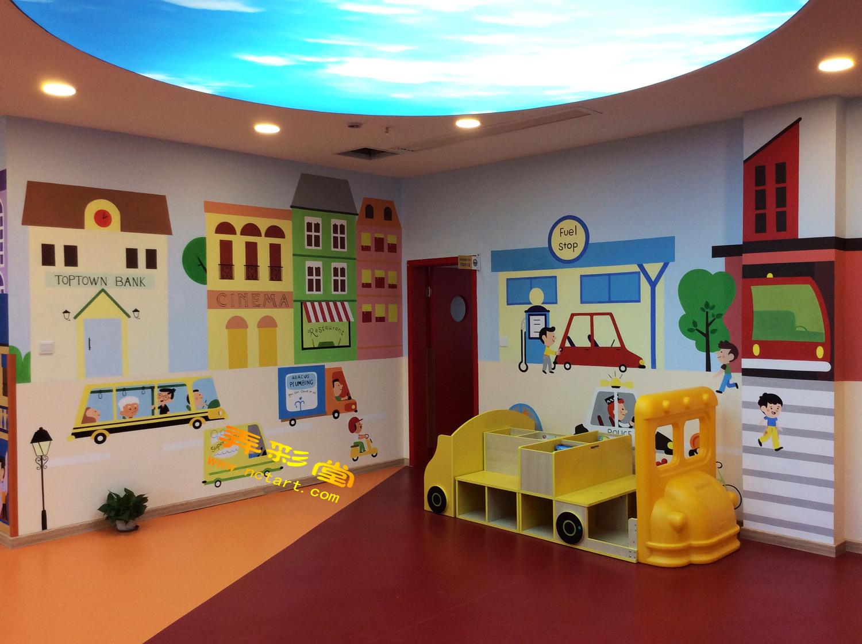 幼儿园l转角墙面彩绘壁画