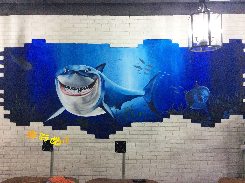 衡阳网咖手绘墙3d画墙绘涂鸦精品案例--苏眼井网域网咖