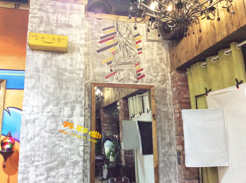 衡阳高品质理发店墙绘涂鸦