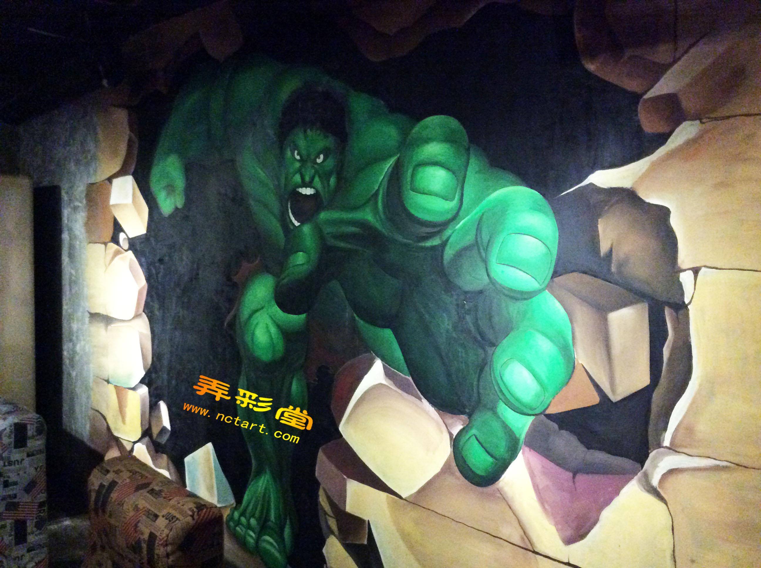 衡阳网吧3d立体画涂鸦墙绘--仙姬巷梦想网咖